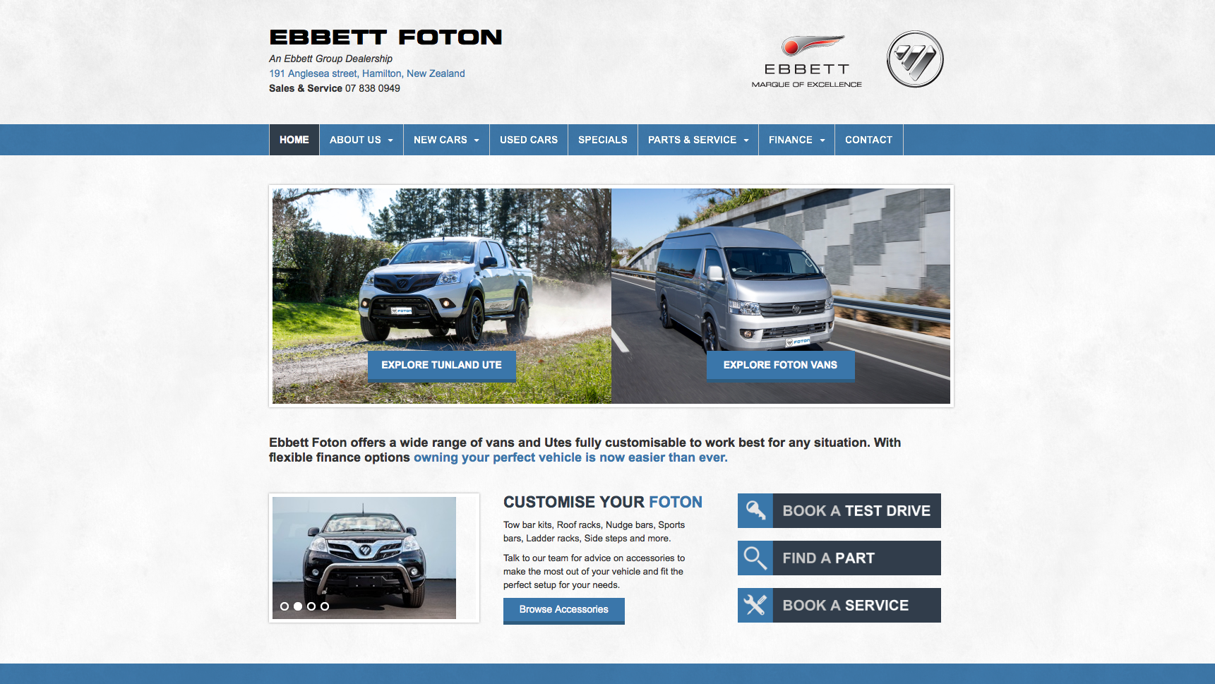 Ebbett Websites